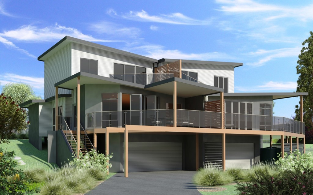 Approved south head dual occupancy dual design for Dual occupancy home designs corner block